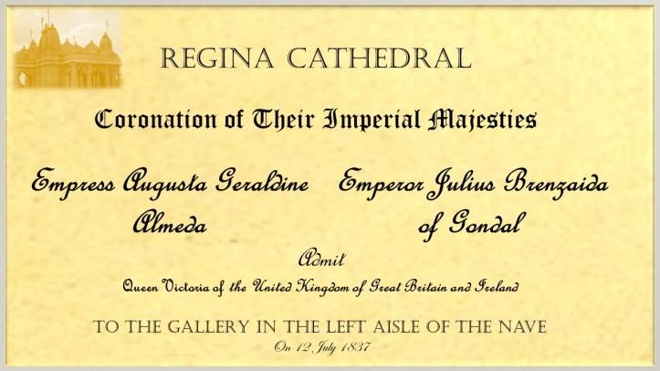 coronation invitation